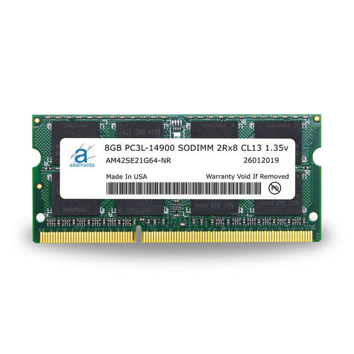 Adamanta 8GB (1x8GB) PC3L-14900 SODIMM 2Rx8 CL13 1.35v for Late 2015 iMac - Adamanta