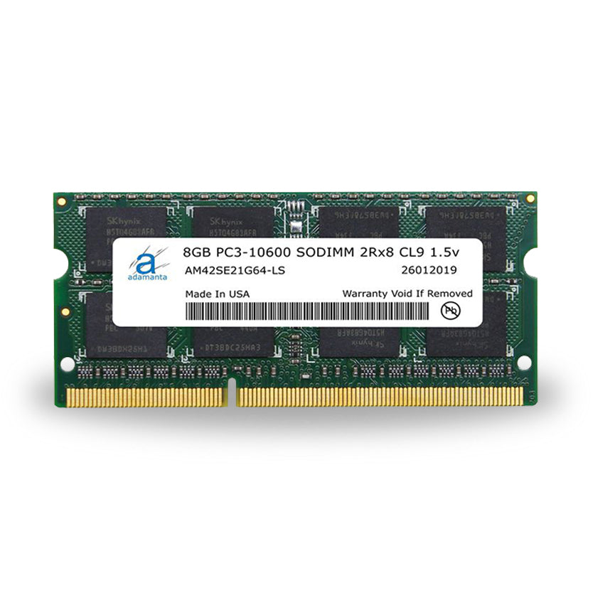 Adamanta 8GB PC3-10600 SODIMM 2Rx8 CL9 1.5v - Adamanta