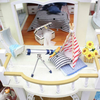 Hoomeda DIY Wood Dollhouse Miniature With LED Furniture Cover Music Happy Together