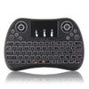 I8 Max Colorful Backlit 2.4G Wireless English Mini Keyboard Touchpad Airmouse for TV Box Smart TV PC