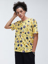Mens New Fashion Flower Print Crew Neck Short Sleeve T-Shirts