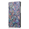 Tri Fold Colourful leaf Case Cover For 8 Inch Huawei Honor Waterplay Tablet