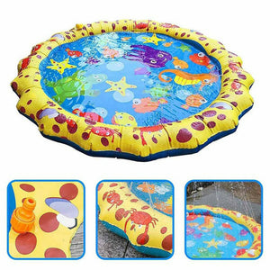 Yellow Lace Inflatable Water Spray Cushion Inflatable Toy Lawn Beach Game Toys