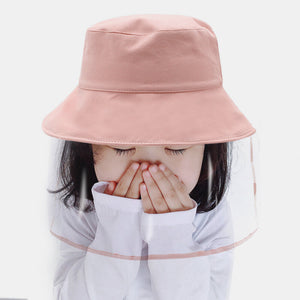 Kids / Little Kids(4-7ys)  Solid Colored Removable Anti-droplet Protective Cap Bucket Hat