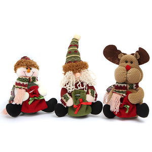 Christmas Decoration Santa Snowman Elk Pattern Pedant Ornament Gift
