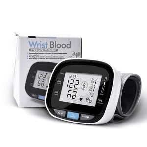 C105L8 Portable Digital LCD Wrist Blood Pressure Monitor With Automatic Voice Broadcast Pulse Rate Measurement