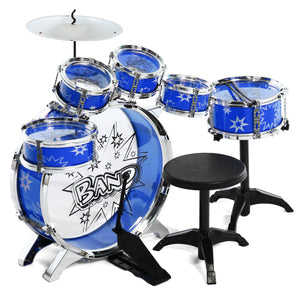 16x Kids Junior Drum Kit Music Set Children Mini Big Band Jazz Musical Play Toy