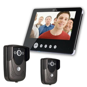 ENNIO SY905FC21 Video Door Phone Doorbell Intercom Kit 900TVL IR Night Vision 2-Camera 9 Inch TFT LCD 1-Monitor