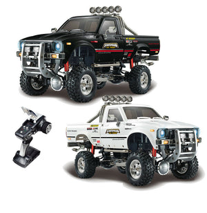 HG P409 1/10 2.4G 4WD RC Car Pickup Truck Rock Crawler without Battery Charger Model