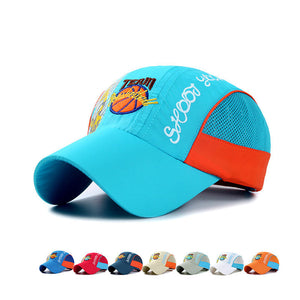 Boys Girls Cotton Basketball Decoration Baseball Cap Sports Sunshade Snapback Children Hats Visor