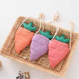 Lovely Fruit Crossbody Bags Kids Cuit Carrot Cotton Coin Purse Children Girls Casual Bag