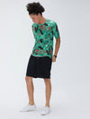 Mens New Fashion Graffiti Print Crew Neck Short Sleeve T-Shirts