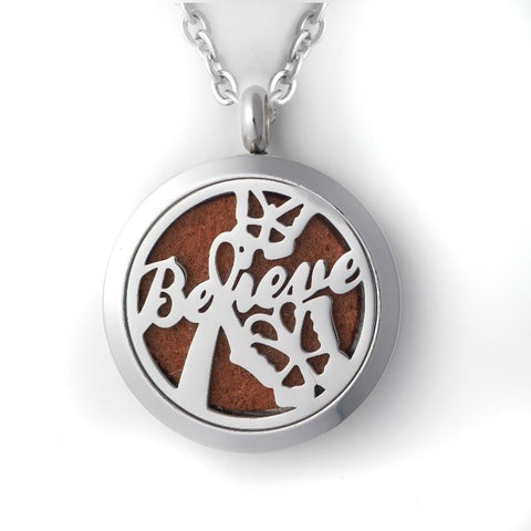 T-Zone Believe Locket Essential Oil Necklace