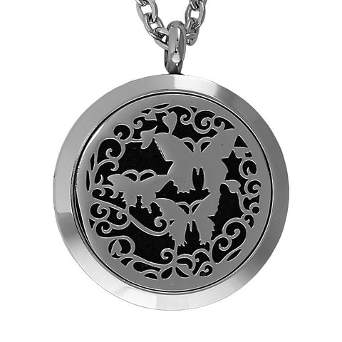 T-Zone Butterfly Locket Essential Oil Necklace