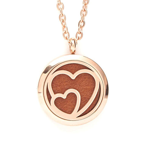 T-Zone Gold Heart Locket Essential Oil Necklace