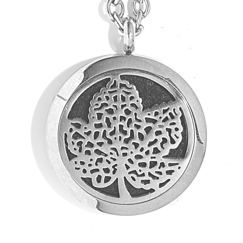 T-Zone Maple Leaf Locket Essential Oil Necklace