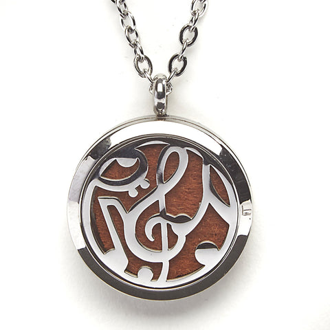 T-Zone Treble Clef Locket Essential Oil Necklace