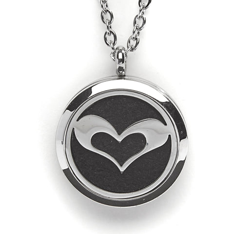 T-Zone Small Heart Locket Essential Oil Necklace