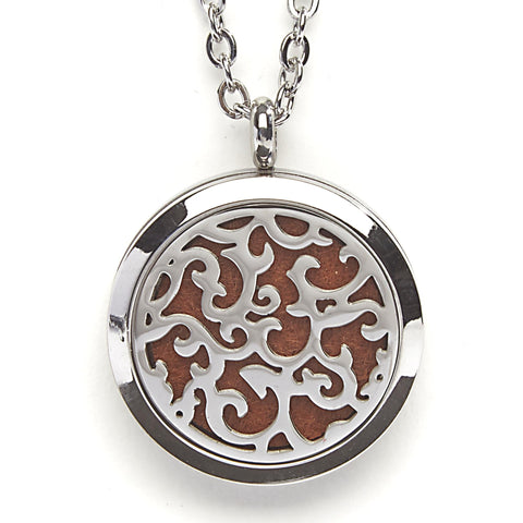 T-Zone Swirls Locket Essential Oil Necklace