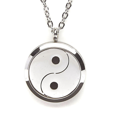 T-Zone Yin Yang Locket Essential Oil Necklace