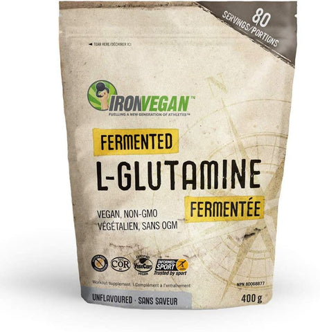 Iron Vegan Fermented L-Glutamine 400G Unflavored