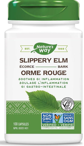 Nature's Way Slippery Elm 100 Capsules