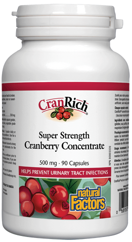 Natural Factors Cranberry Concentrate 90 Capsules