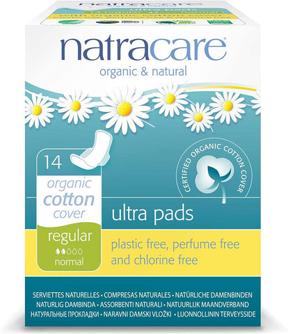 Natracare Ultra Pads Regular With Wings 14 Count