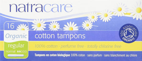 Natracare Regular Tampons with applicator 16 Count