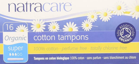 Natracare Super Tampons with applicator 16 Count