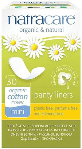 Natracare Mini Panty Liner 30 Count