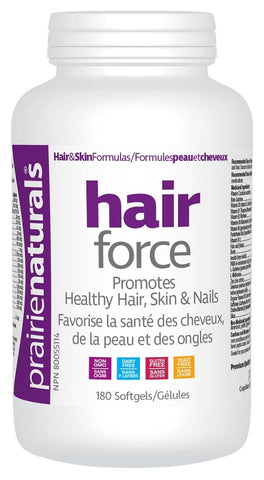 Prairie Naturals Hair Force 180 Softgels