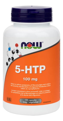 NOW 5-HTP 100MG 120 Capsules