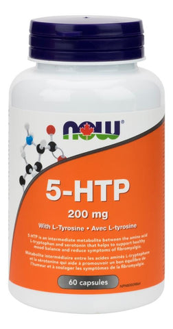NOW 5-HTP 200MG with Tyrosine 60 Capsules