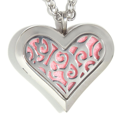 T-Zone Square Heart Locket Essential Oil Necklace