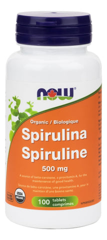 NOW Spirulina 500MG 100 Tablet
