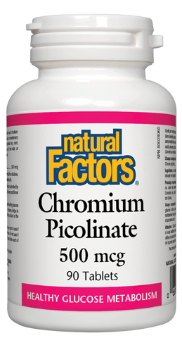 Natural Factors Chromium Picolinate 500MCG 90 Tablet