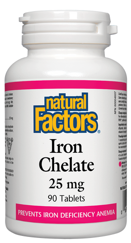 Natural Factors Iron Chelate 25MG 90 Tablet