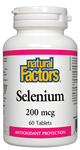 Natural Factors Selenium 200MCG 60 Tablet
