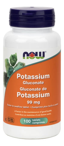 NOW Potassium Gluconate 99MG 100 Tablet