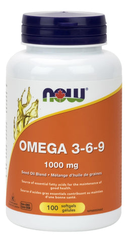 NOW Omega 3-6-9 1000MG 100Softgels