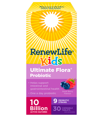 Renew Life Ultimate Flora Kids 10Billion 30 Chewable Tablet