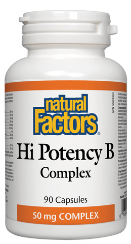 Natural Factors Hi Potency B 50mg 90 Capsules