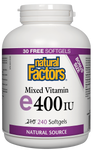 Natural Factors Vitamin E Mixed 400IU 240 Softgels