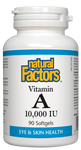 Natural Factors Vitamin A 10,000IU 90 Softgel