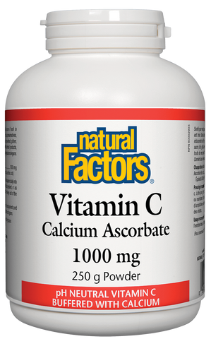 Natural Factors Vitamin C 1000MG Calcium Ascorbate 250G
