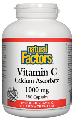 Natural Factors Vitamin C 1000MG Calcium Ascorbate 180 Caps