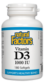 Natural Factors Vitamin D3 1000IU 180 Softgel
