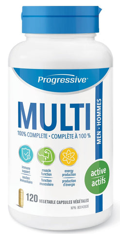 Progressive Multi Active Men 120 V Cap