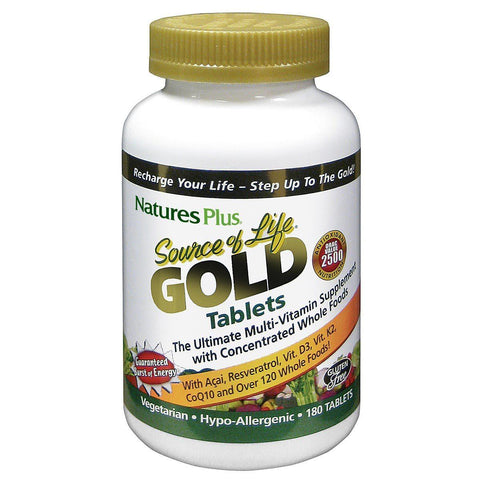 Nature's Plus Source of Life Gold 180 Hard Tablet